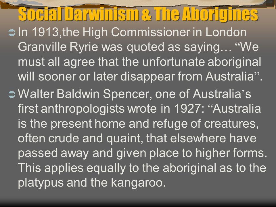 Social Darwinism & The Aborigines