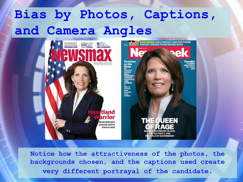 Bias by Photos, Captions, and Camera Angles