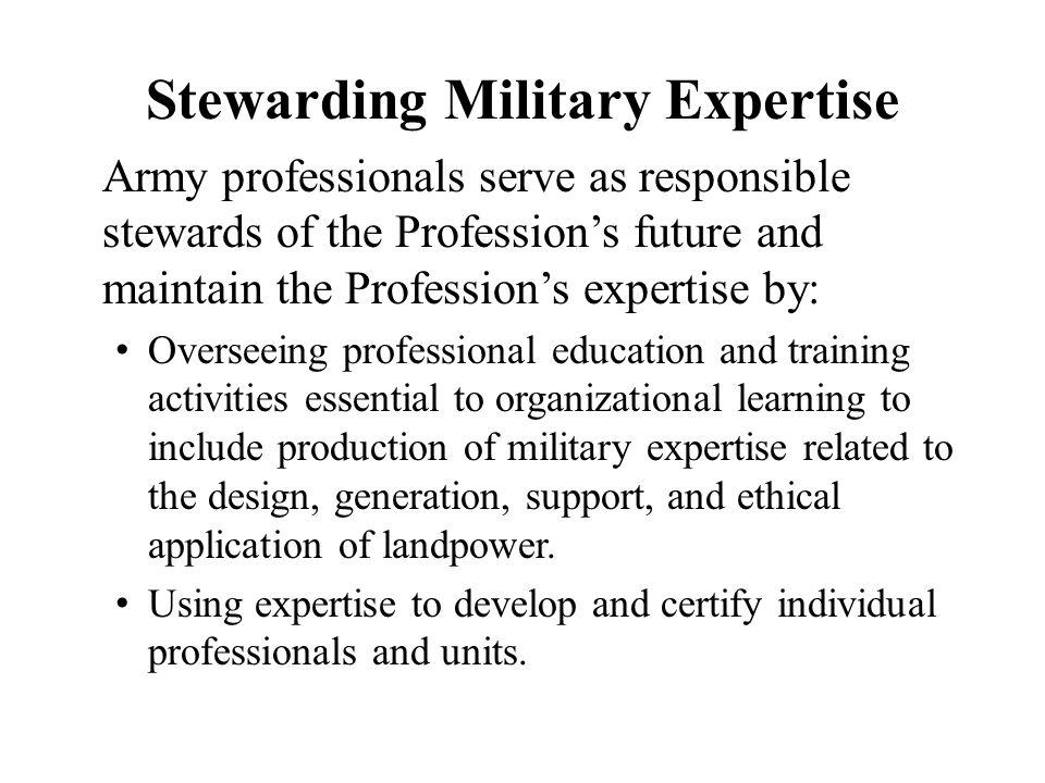 Stewarding Military Expertise