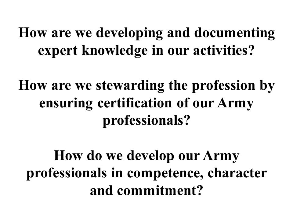 How are we developing and documenting expert knowledge in our activities.