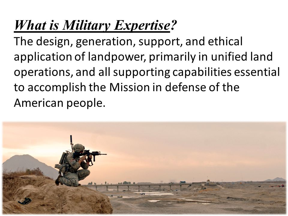 What is Military Expertise