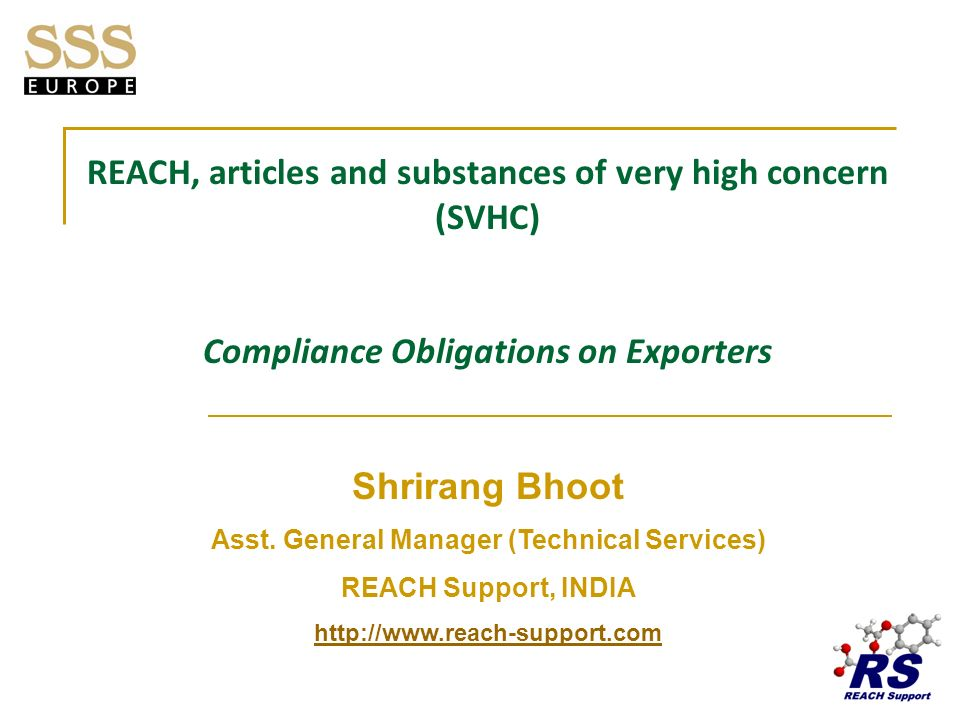 REACH, articles and substances of very high concern (SVHC)