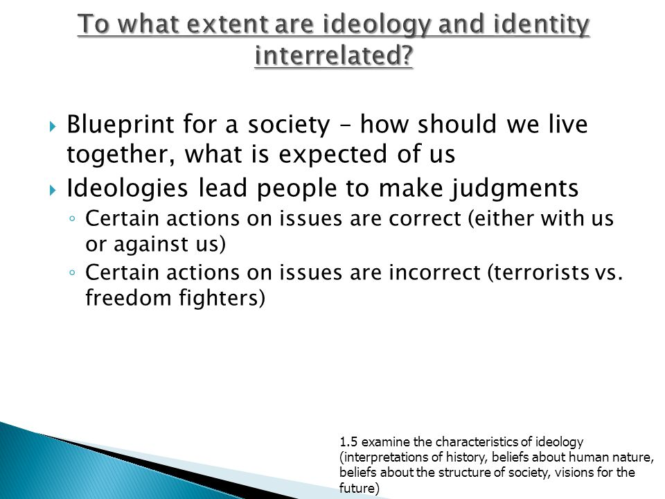 To what extent are ideology and identity interrelated