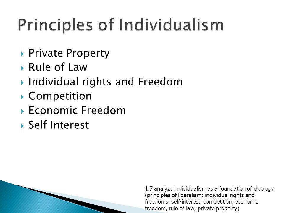 Principles of Individualism