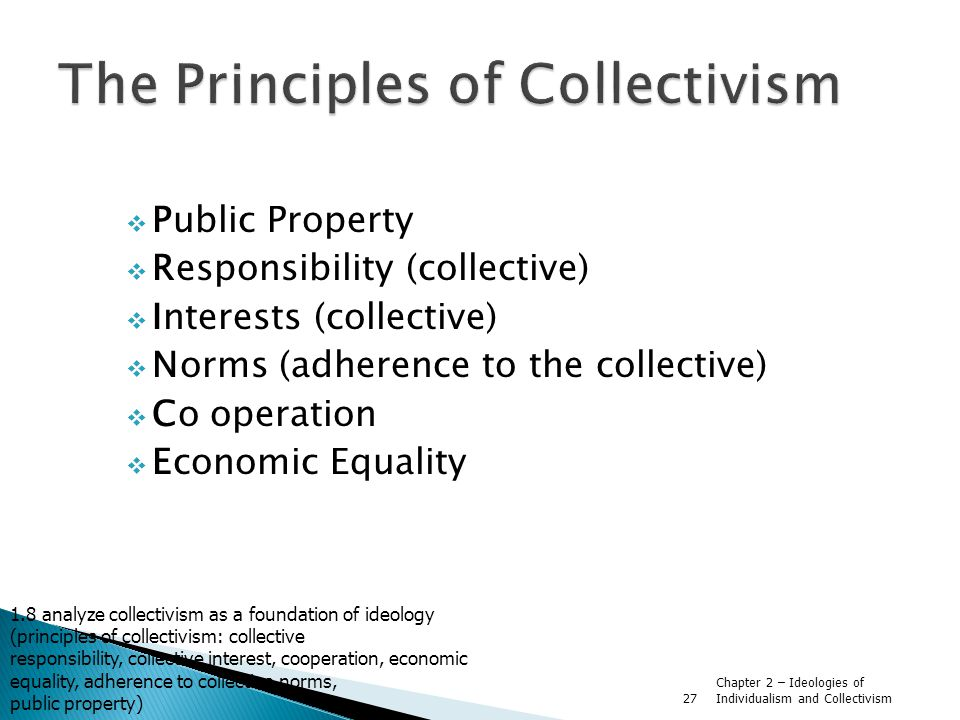 The Principles of Collectivism