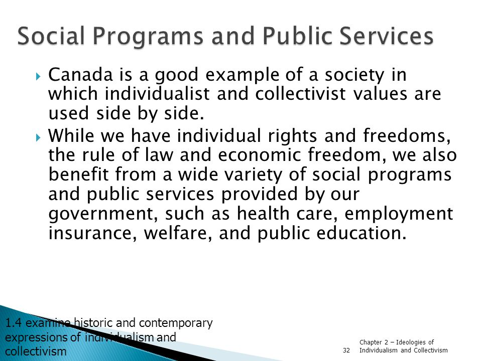 Social Programs and Public Services
