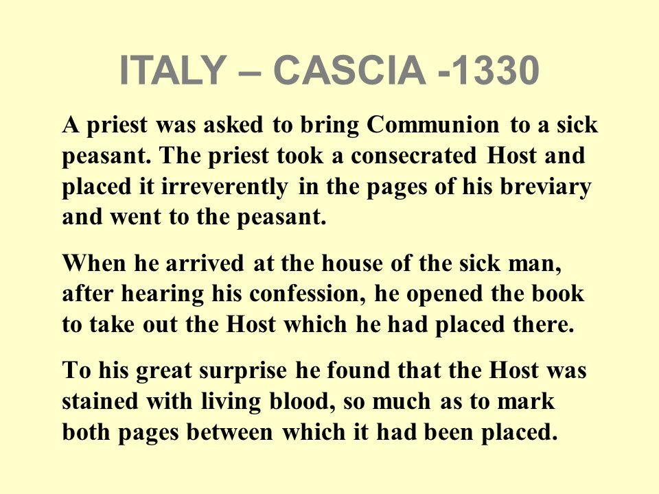 ITALY – CASCIA -1330