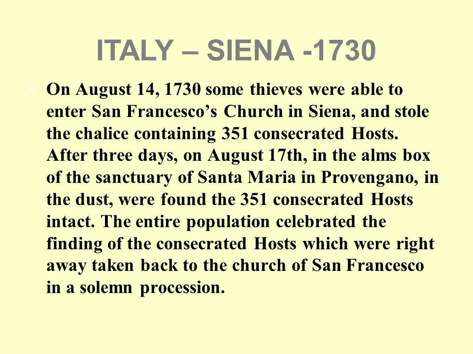 ITALY – SIENA -1730
