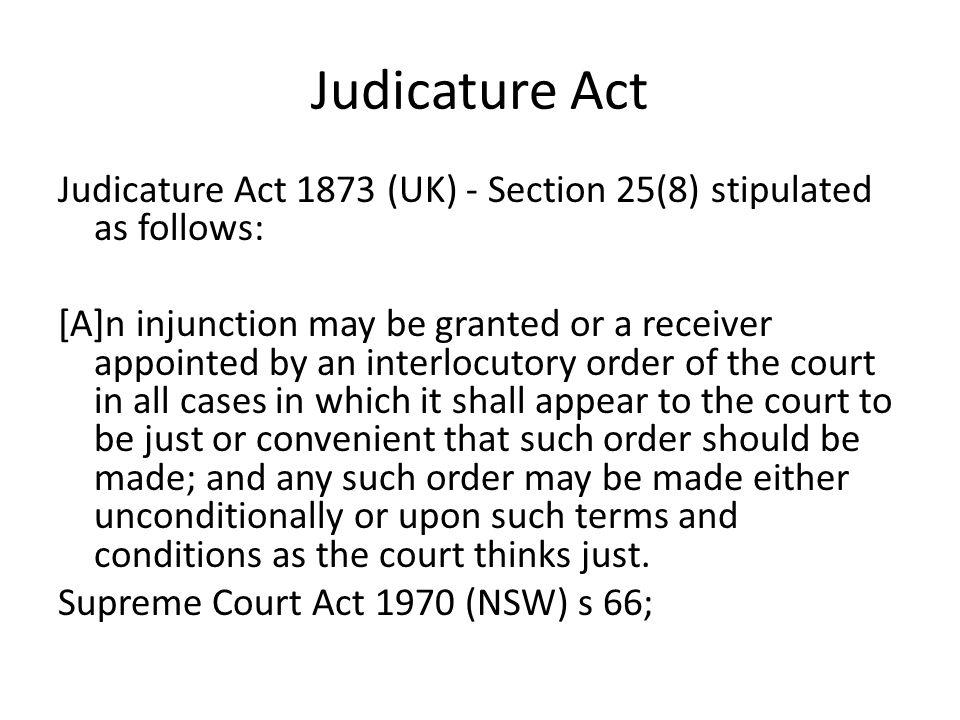Judicature Act