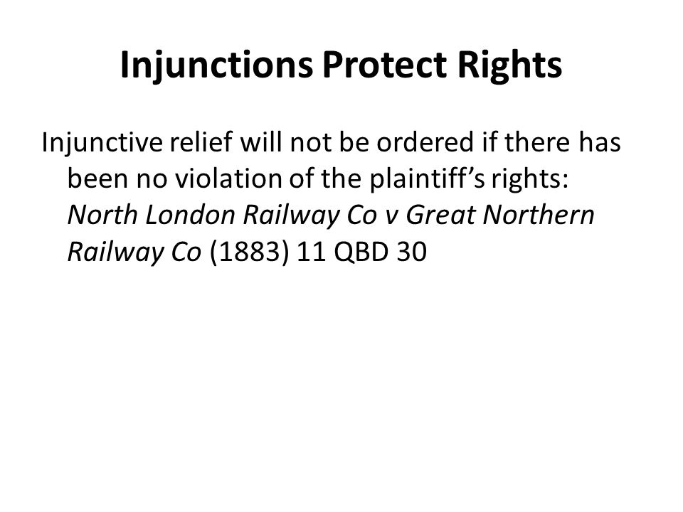 Injunctions Protect Rights