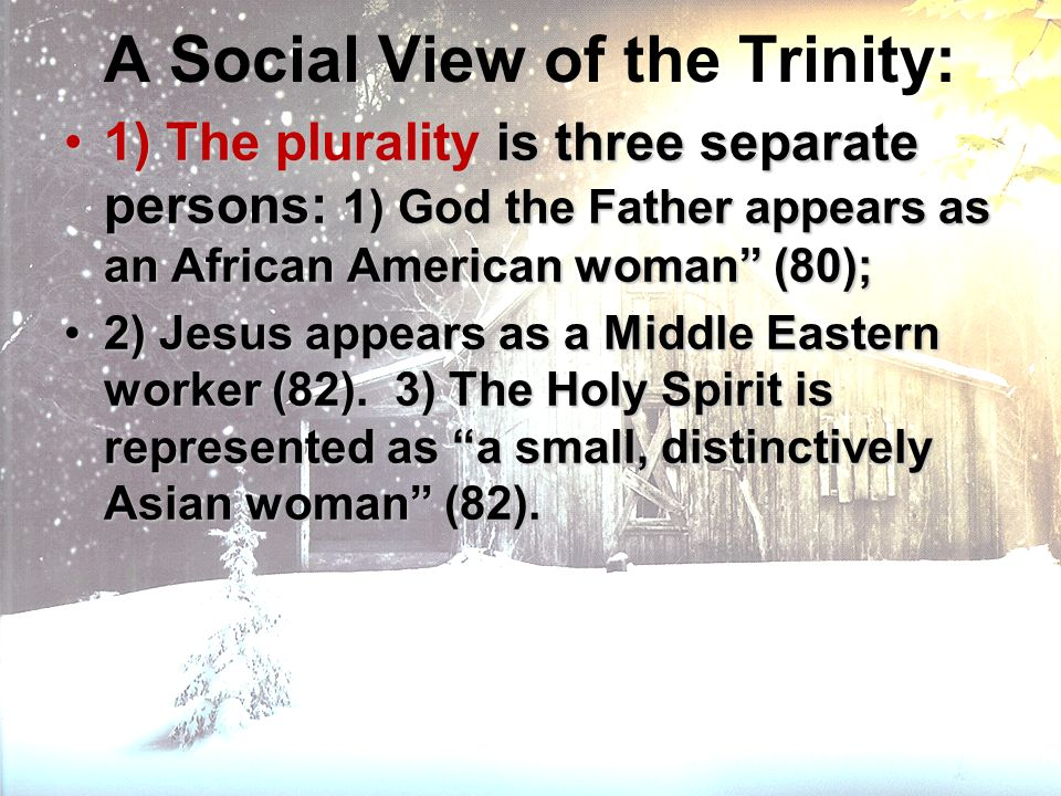 A Social View of the Trinity: