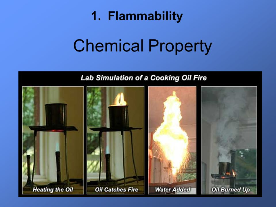 1. Flammability Chemical Property