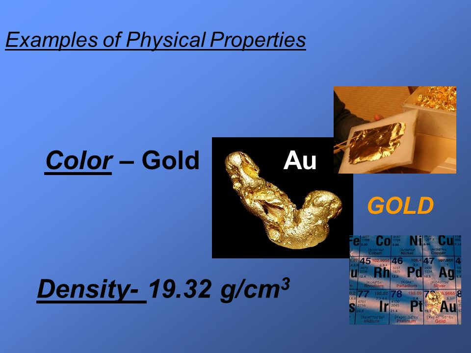 Physical and Chemical Properties of Matter - ppt video ... What Are Some Examples Of Physical Properties