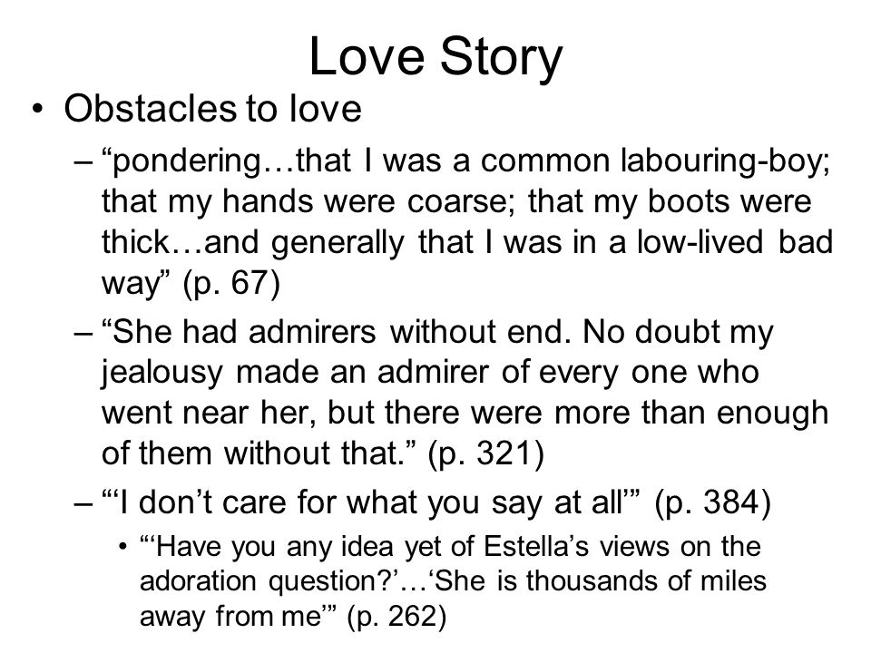 Love Story Obstacles to love
