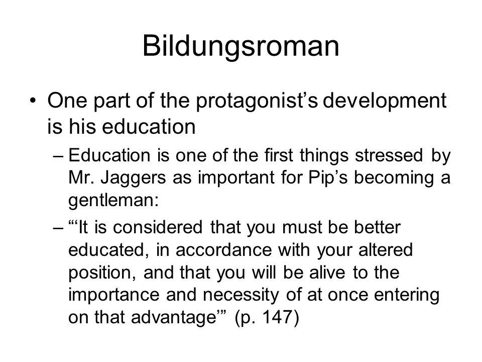 BildungsromanOne part of the protagonist's development is his education.