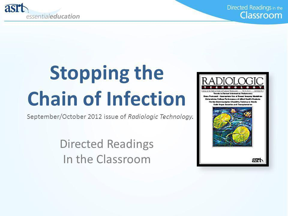 Stopping the Chain of Infection