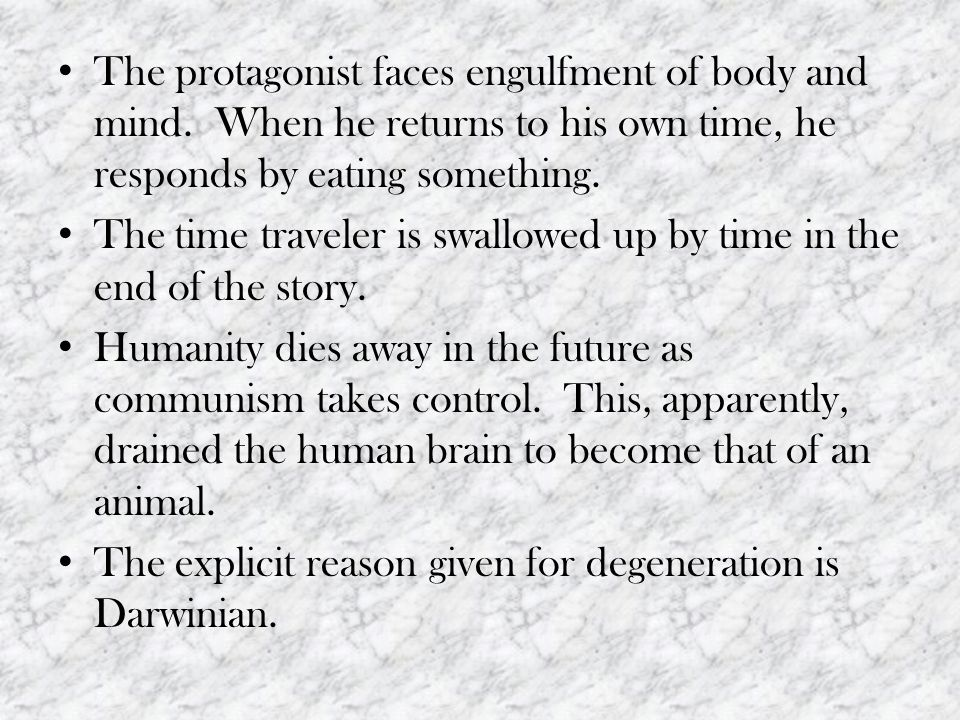 The protagonist faces engulfment of body and mind