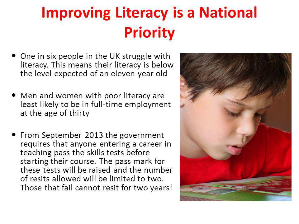 Improving Literacy is a National Priority