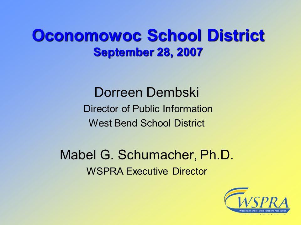 Oconomowoc School District September 28, 2007