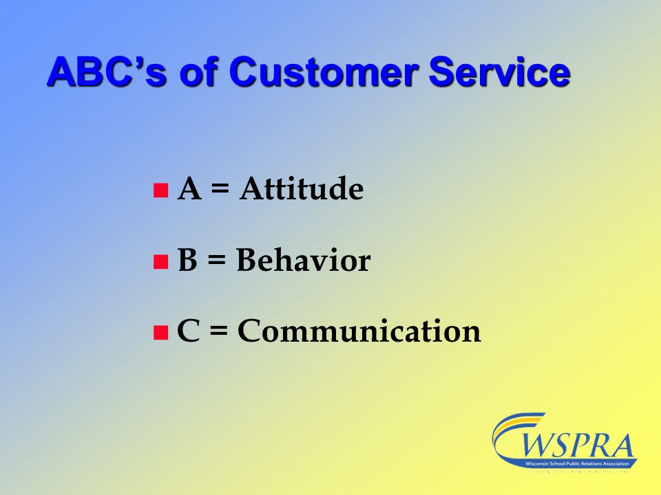 ABC's of Customer Service
