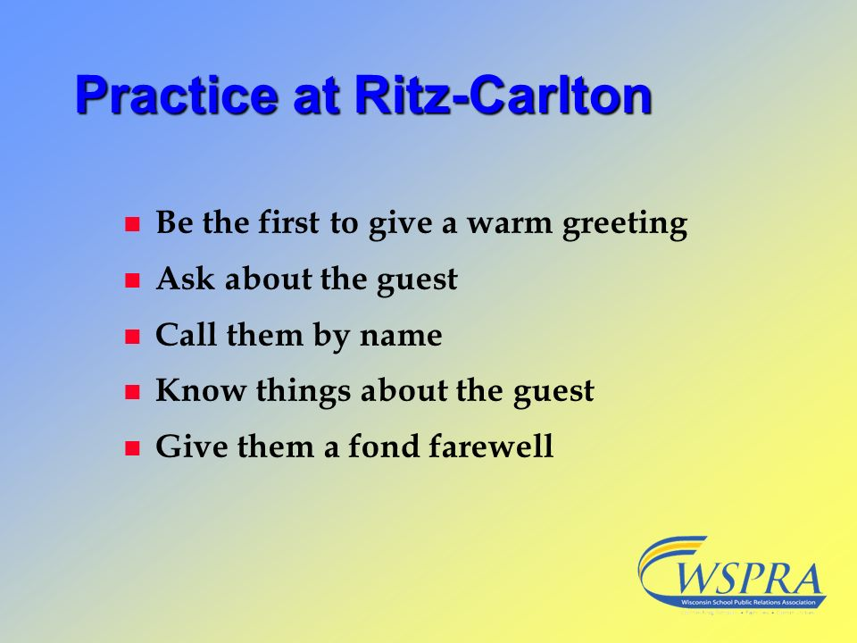 Practice at Ritz-Carlton