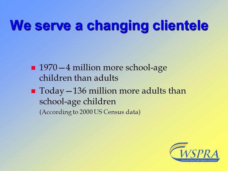 We serve a changing clientele