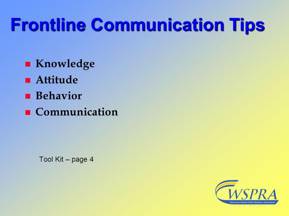 Frontline Communication Tips