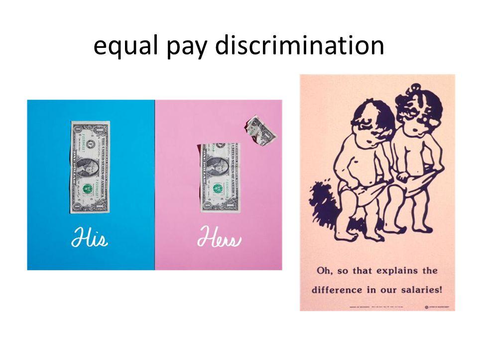 equal pay discrimination