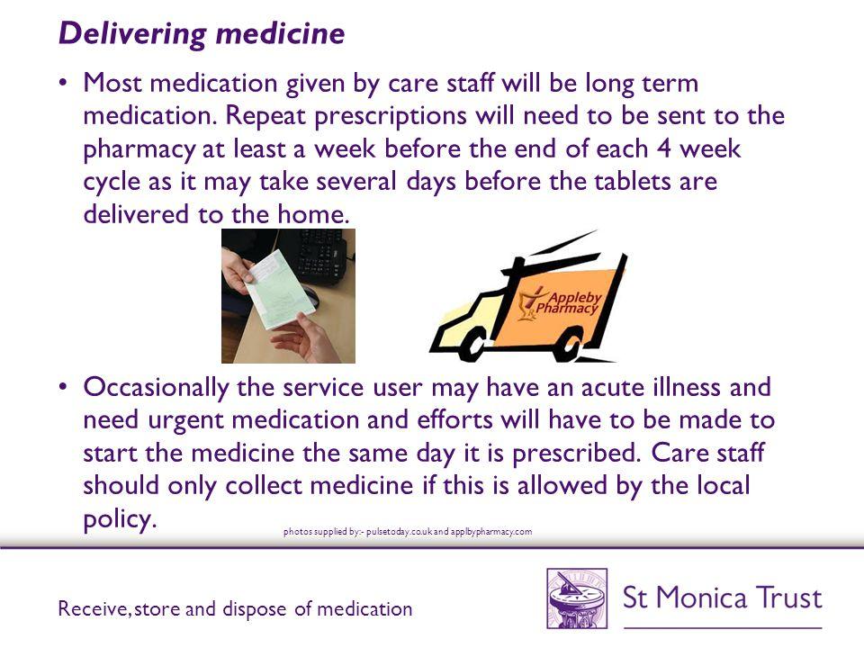 Delivering medicine