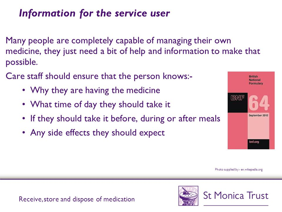 Information for the service user