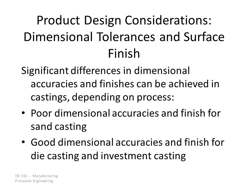 Product Design Considerations: Dimensional Tolerances and Surface Finish