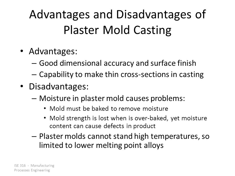 Advantages and Disadvantages of Plaster Mold Casting