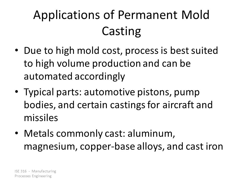 Applications of Permanent Mold Casting