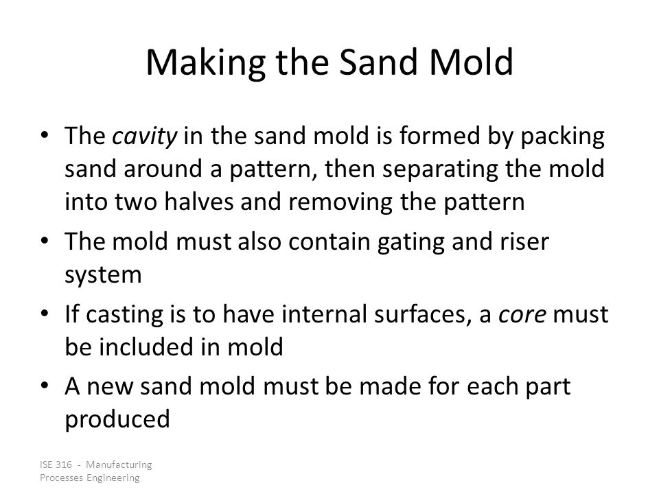 Making the Sand Mold