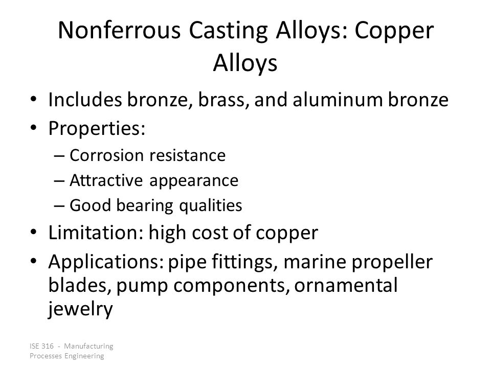Nonferrous Casting Alloys: Copper Alloys