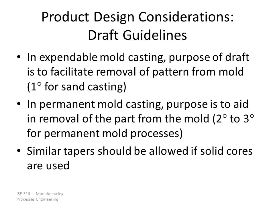 Product Design Considerations: Draft Guidelines
