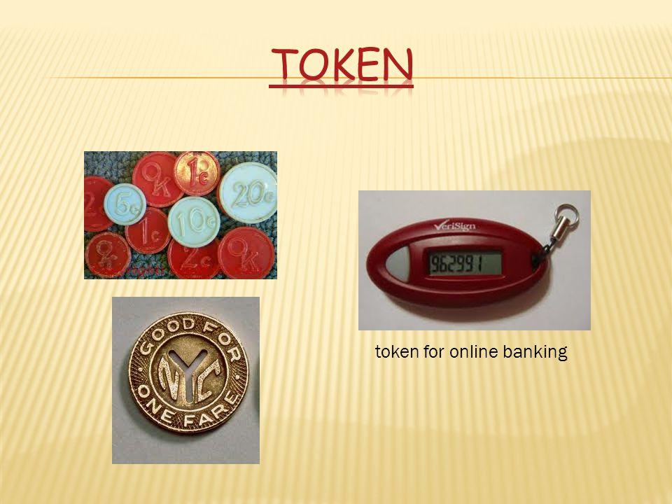 token token for online banking