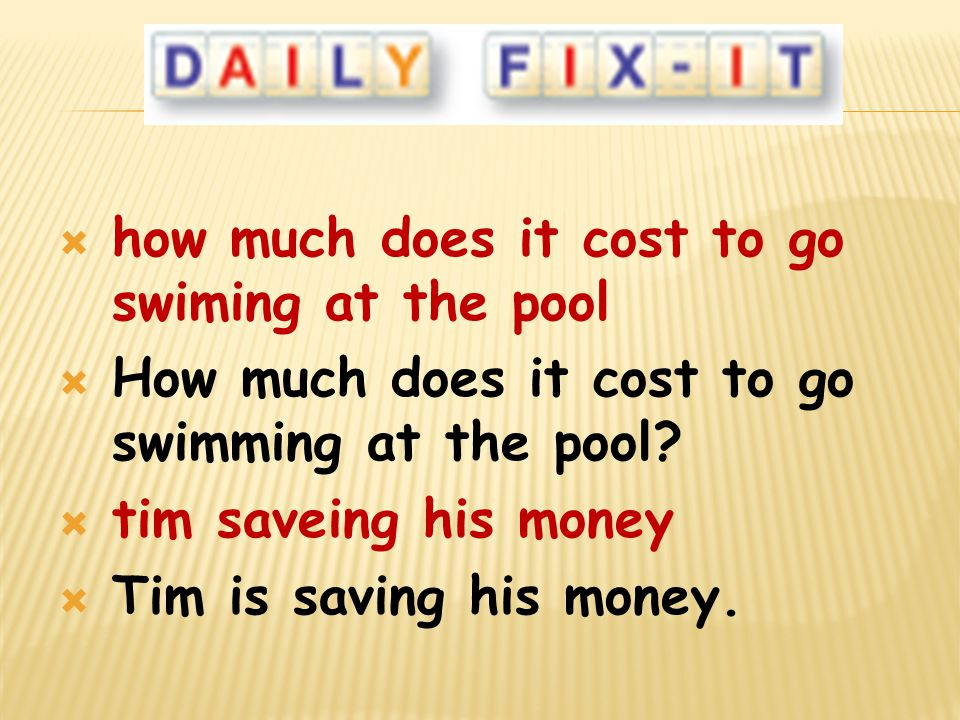 how much does it cost to go swiming at the pool