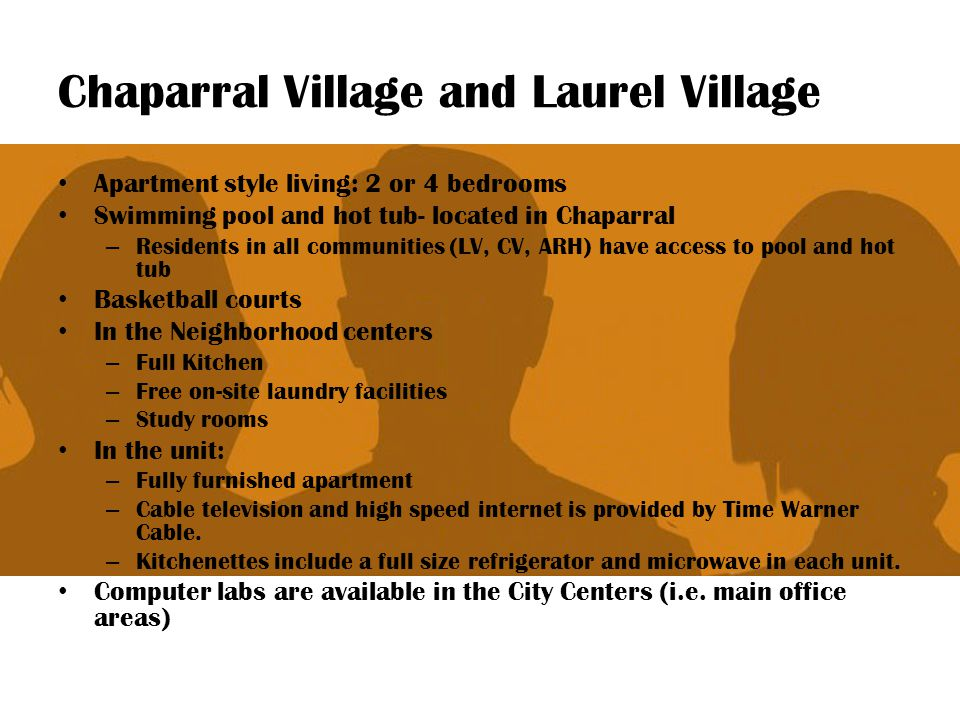 Chaparral Village and Laurel Village