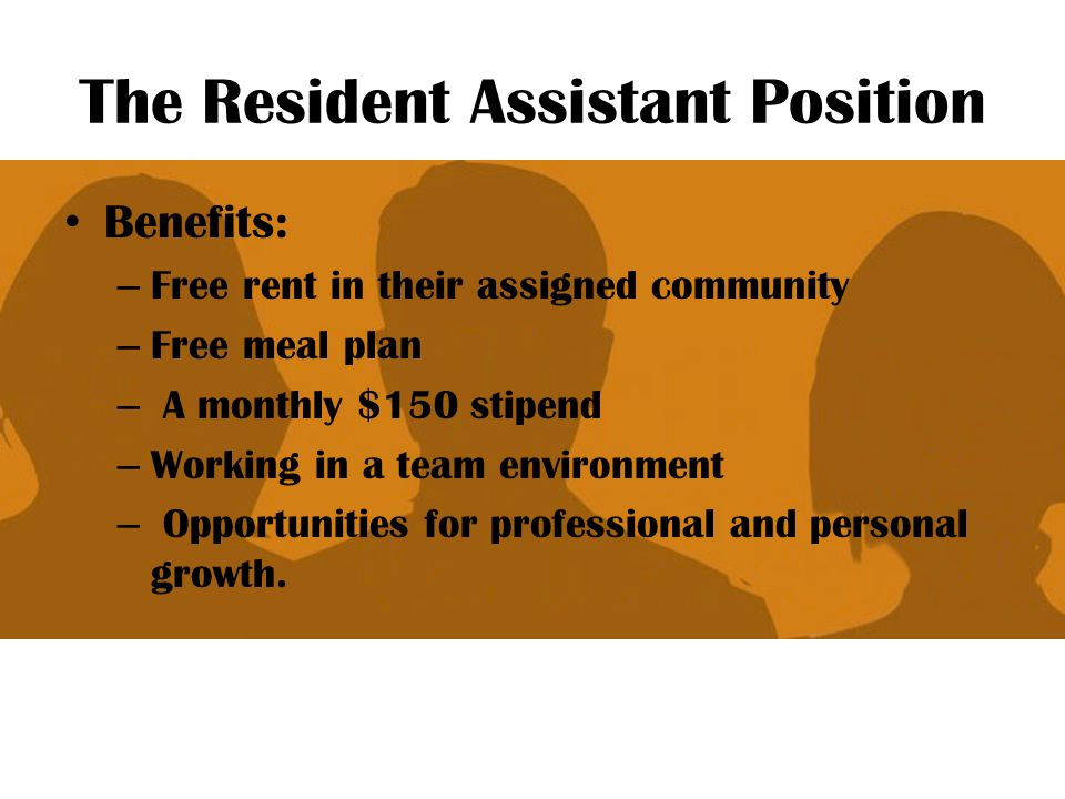 The Resident Assistant Position