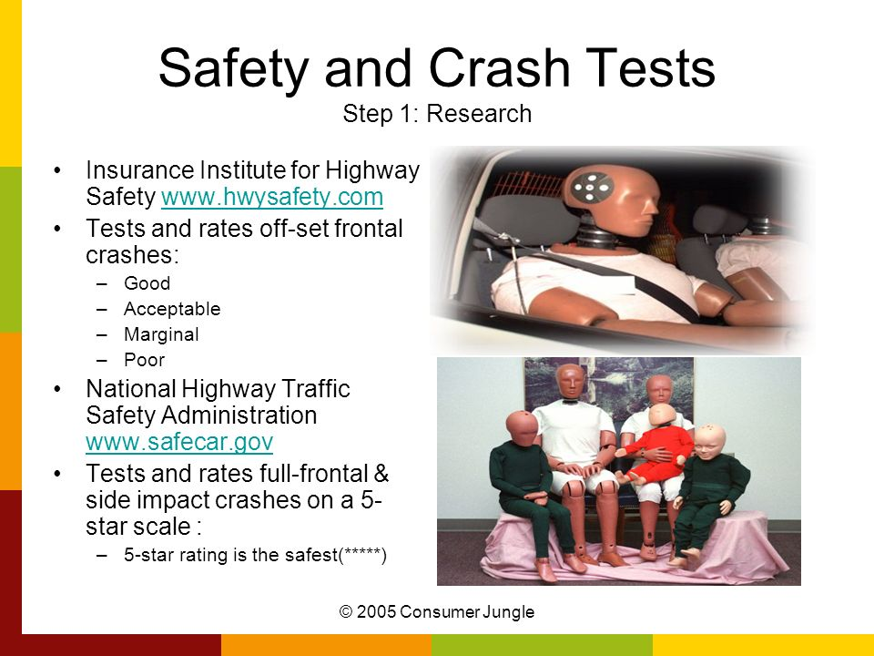 Safety and Crash Tests Step 1: Research