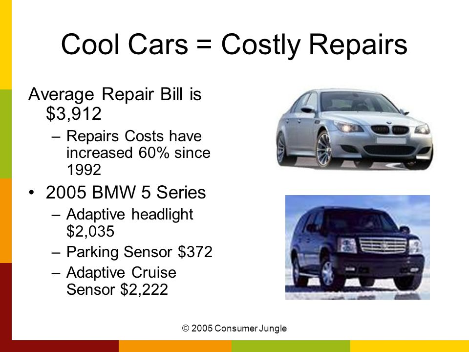 Cool Cars = Costly Repairs