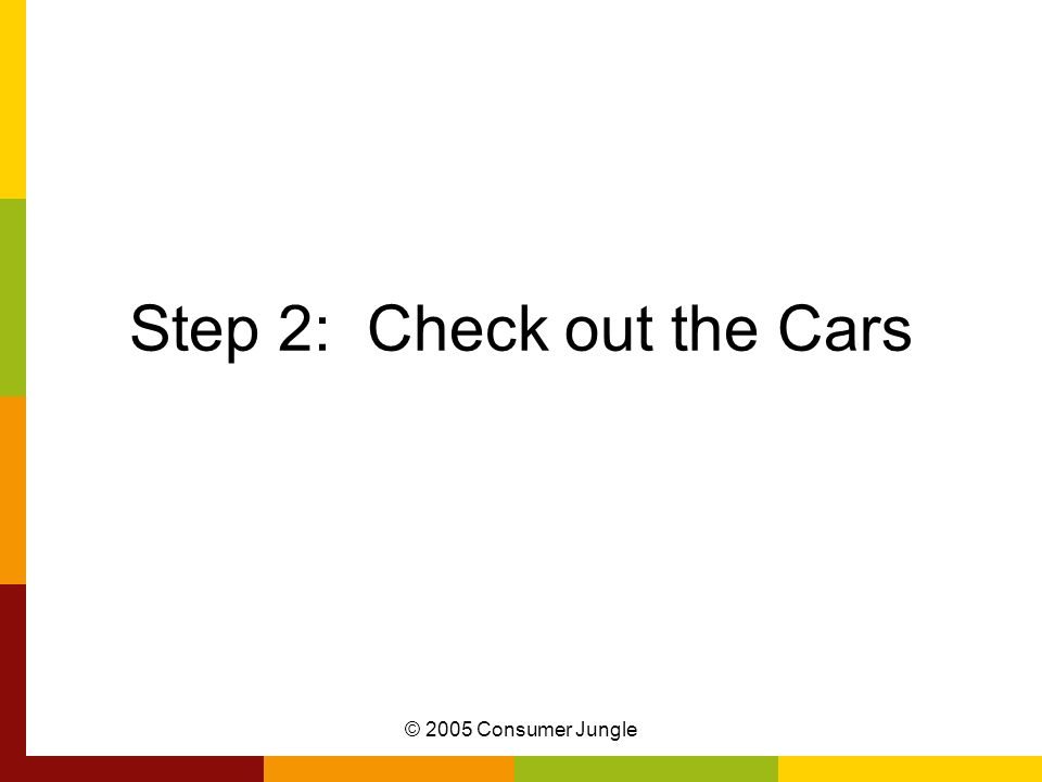 Step 2: Check out the Cars