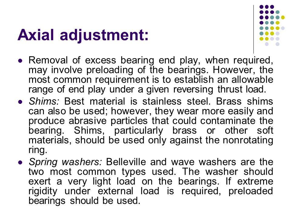 Axial adjustment: