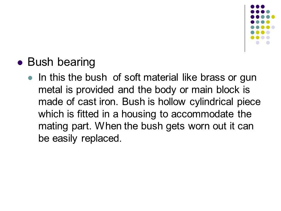 Bush bearing
