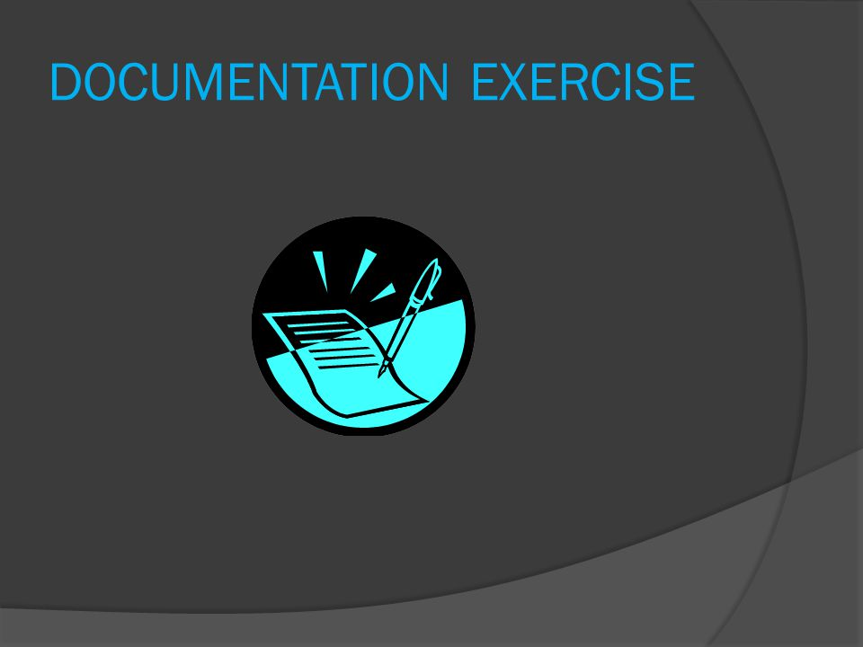 DOCUMENTATION EXERCISE