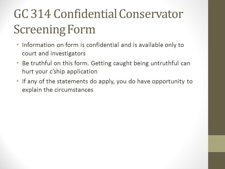 Filing For Conservatorship  Ppt Video Online Download