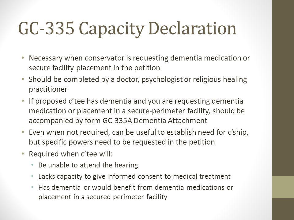 GC-335 Capacity Declaration