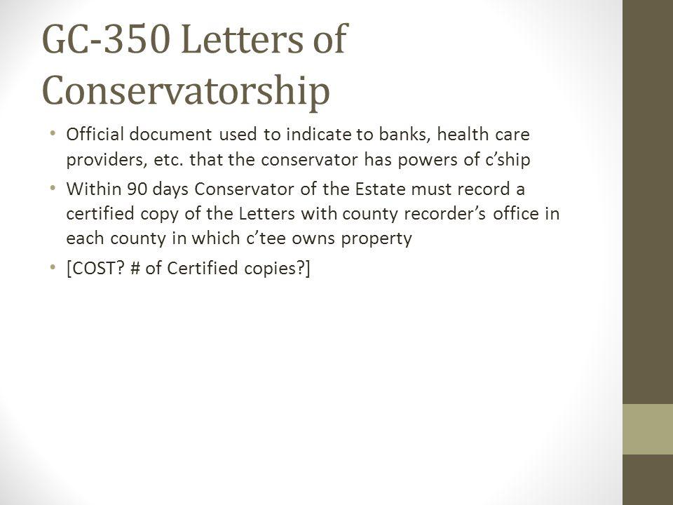 GC-350 Letters of Conservatorship
