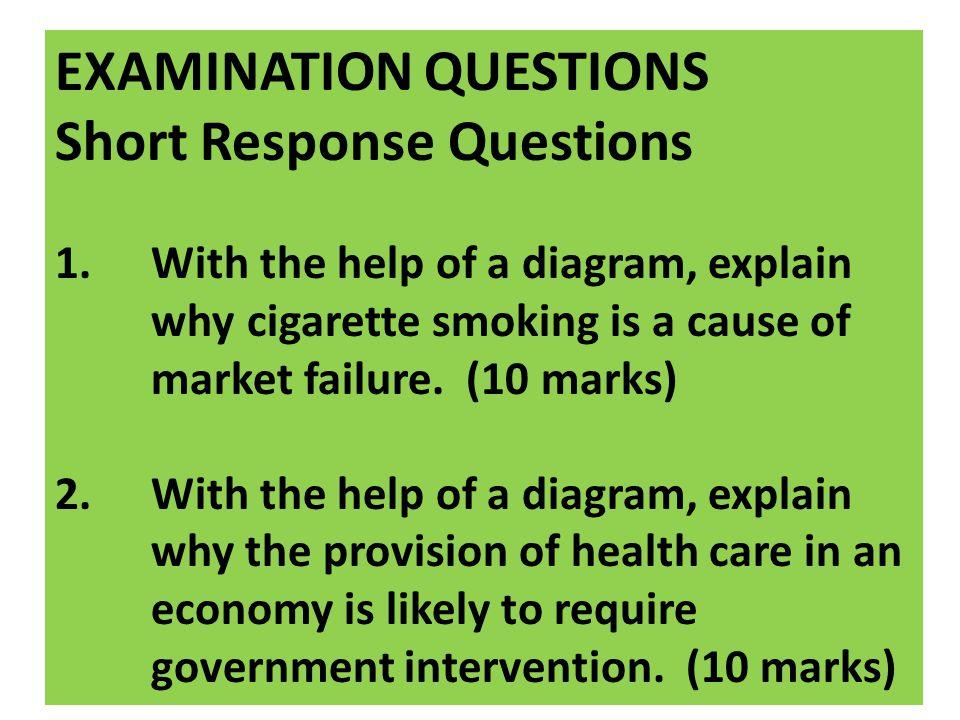 EXAMINATION QUESTIONS Short Response Questions